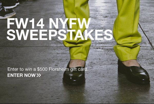 Enter for a chance to win a $500 Florsheim gift card! Display images to learn more.
