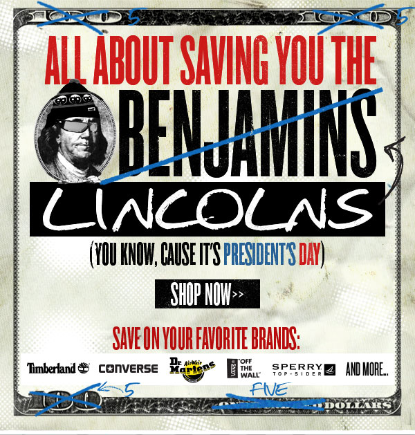 Save Some Lincolns, Grants & Jacksons