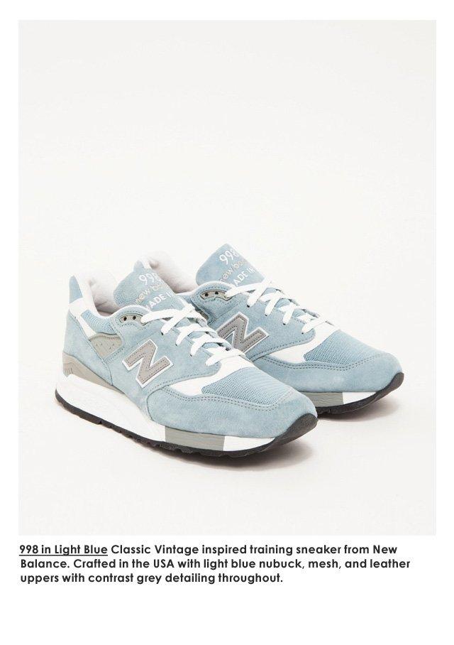 998 in Light Blue—New Balance