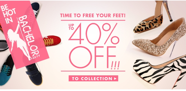 Be hot in Up to 40% off To collection>