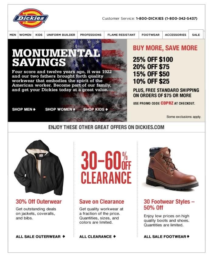 Site-wide Monumental Savings
