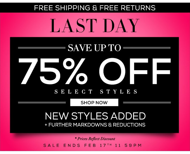 Last Day Sale Up To 75% Off