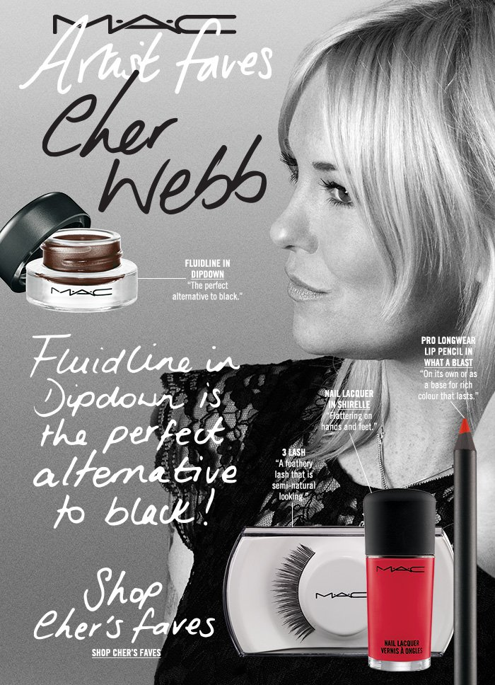 """""""Fluidline in Dipdown is the perfect alternative to black!"""" Shop Cher's Faves"""