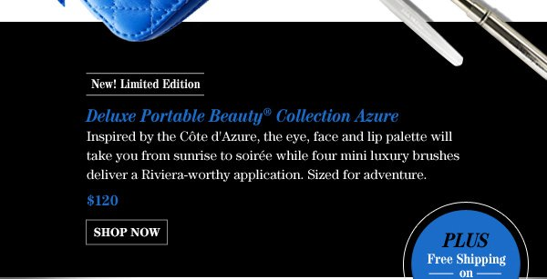 New! Limited Edition Deluxe Portable Beauty® Collection Azure