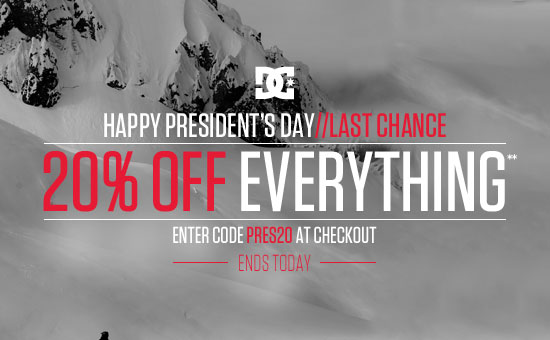 Happy President's Day - Enjoy 20& off everything**