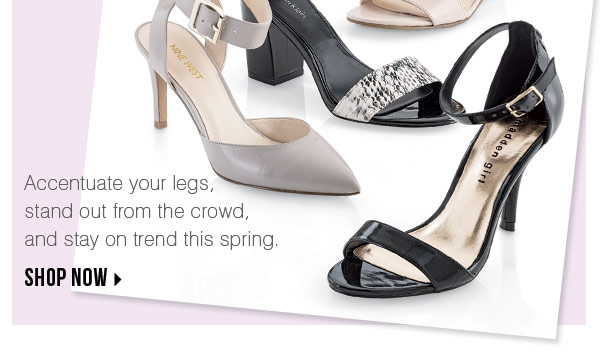 Accentuate your legs, stand out from the crowd, and stay on trend this spring. Shop now