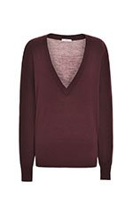 Plum Merino Wool Knit