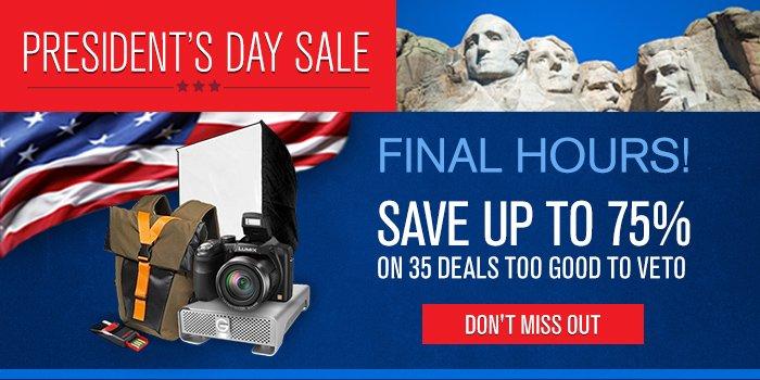 Presidents Day Week Long Sale!