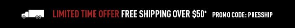 Free Shipping Over $50 with Promo Code presship
