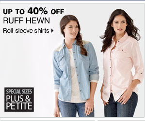 Up to 40% off Ruff Hewn  Roll-sleeve shirts