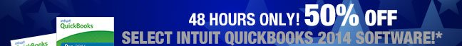 48 Hours Only! 50% off select Intuit Quickbooks 2014 Software