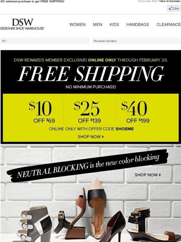 Related DSW Coupons