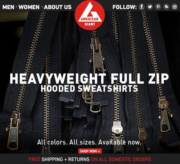 Men's Heavyweight Full Zip: Available Now