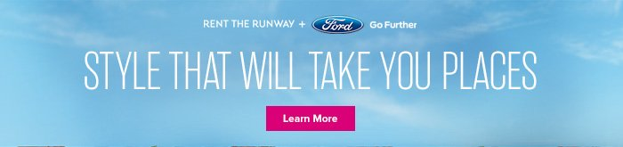 Rent the Runway + Ford