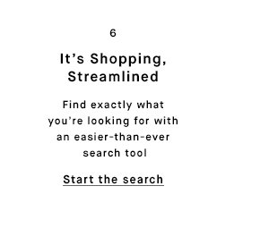 It's Shopping, Streamlined - Start the search