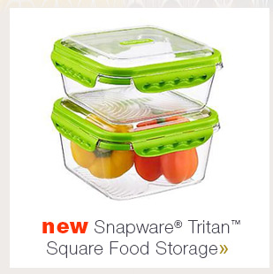 New  Snapware Tritan Square Food Starage »