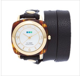 Tortoise Gold Acetate Stone Simple Wrap Watch