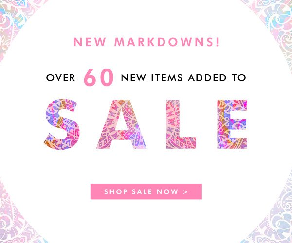 Over 60 new items added to sale!