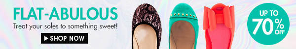 Flats up to 70% off