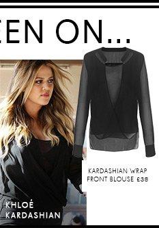 Kardashian Wrap Front Blouse