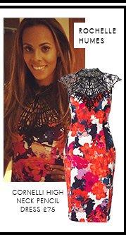 Kardashian Cornelli High Neck Pencil Dress