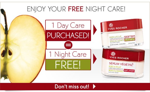 ENJOY YOUR FREE NIGHT CARE!