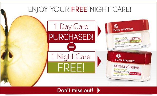 ENJOY YOUR FREE NIGHT CARE!