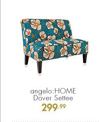 angelo: HOME Dover Settee  299.99