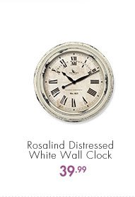 Rosalind Distressed White Wall Clock  39.99