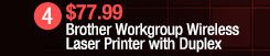 Brother Workgroup Wireless Laser Printer with Duplex