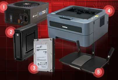 PSU, Printer, Rotuer, HDD, Modem
