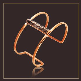 Pave Deco Bar Harness Cuff