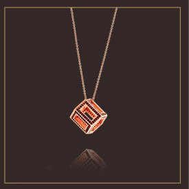 Deco Geometric Pendant Necklace