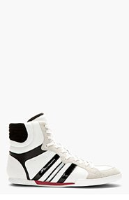 Y-3 White Sala High-Top Sneakers for men