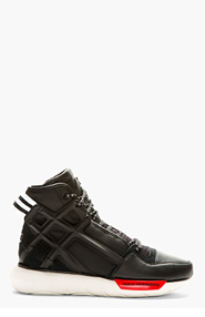 Y-3 Black Qasa High-Top Basketball Shoes for men