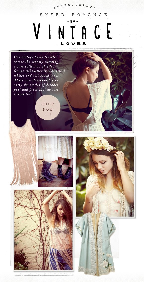 Shop Sheer Romance by Vintage Loves