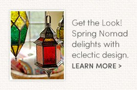 Get the Look! Spring Nomad delights with eclectic design