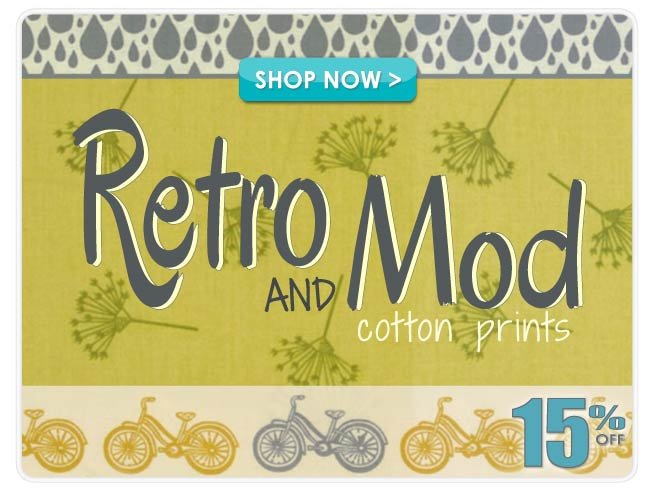 15% off Retro & Mod Cotton Prints