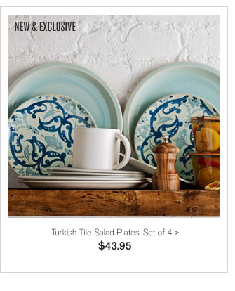 NEW & EXCLUSIVE - Turkish Tile Salad Plates, Set of 4 - $43.95
