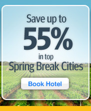 Save up to 55% in Spring Break cities