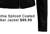 Sophia Spliced Coated Biker Jacket