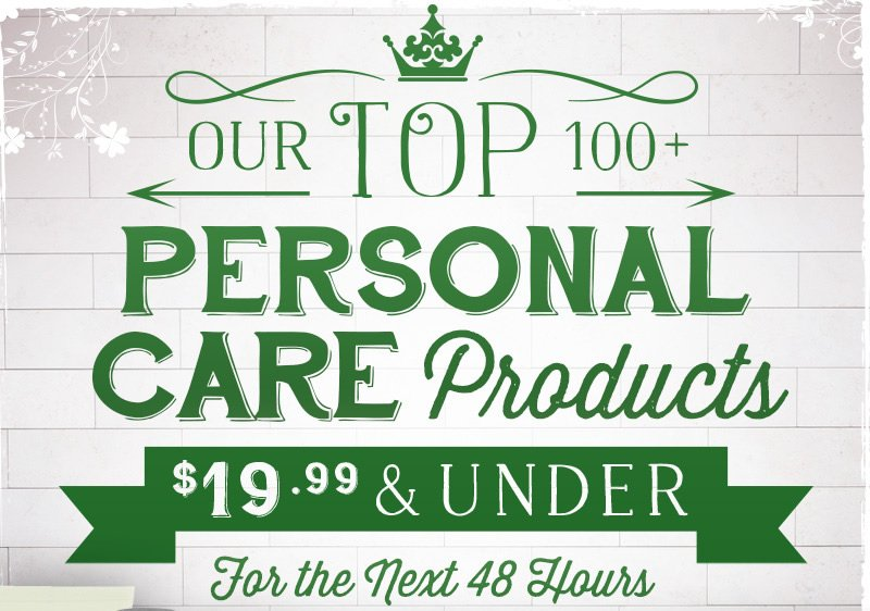Top 100 Personal Care Products