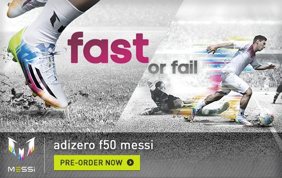 Shop Messi F50 adizero Cleats »