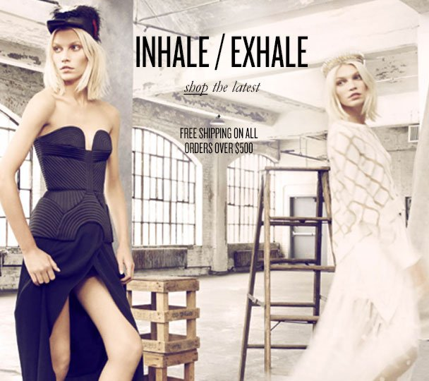 INHALE / EXHALE shop the latest + FREE SHIPPING ON ALL ORDERS OVER $500