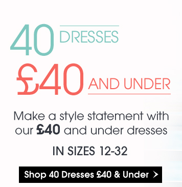 &nbsp40 Dreses for £40 and under