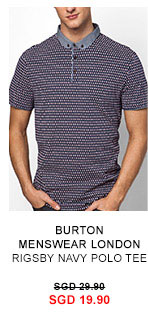 Rigsby Navy Polo Tee 19.90 SGD