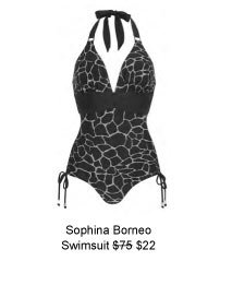 Sophina by Figleaves.com Borneo Halter Shaping Swimsuit was $75 now $22