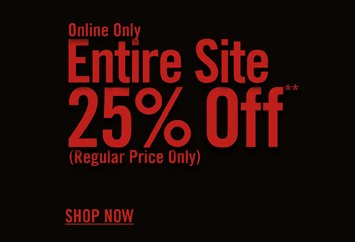 Entire Site 25% Off