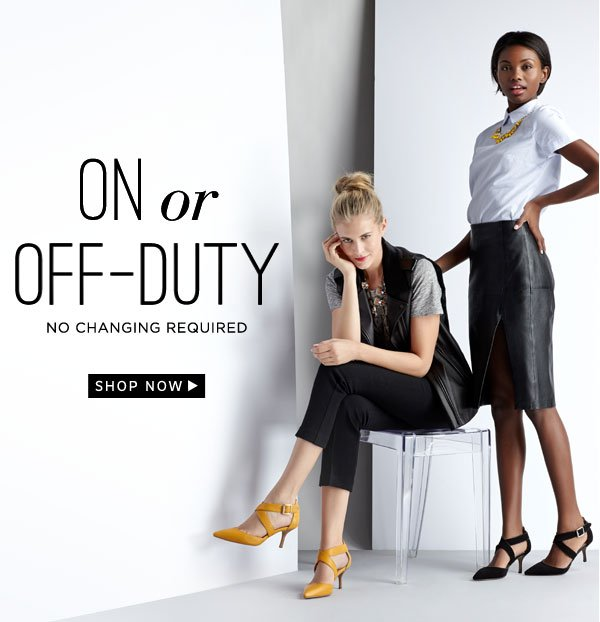 On or off-duty. Shop Tamra