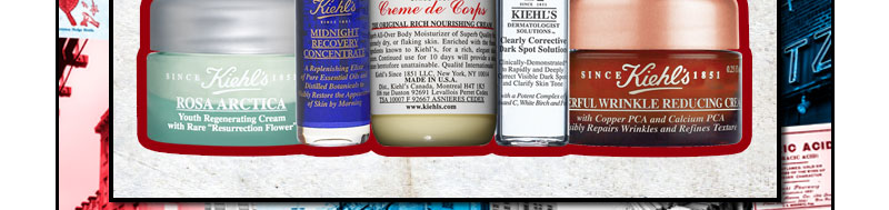 Kiehl's Since 1851   Powerful-Strength Line-Reducing Concentrate   ROSA ARCTICA   MIDNIGHT RECOVERY CONCENTRATE   Creme de Corps   DERMATOLOGIST SOLUTION   FACIAL FUEL   POWERFUL WRINKLE REDUCING CREAM